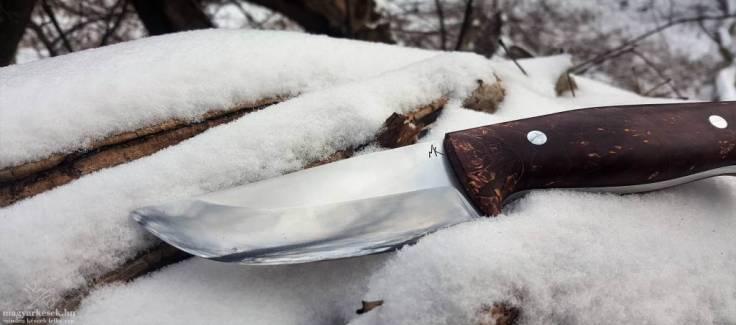 Kovács Miklós Indián bushcraft túra kés